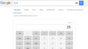 Google ciekawostki - kalkulator w wyszukiwarce
