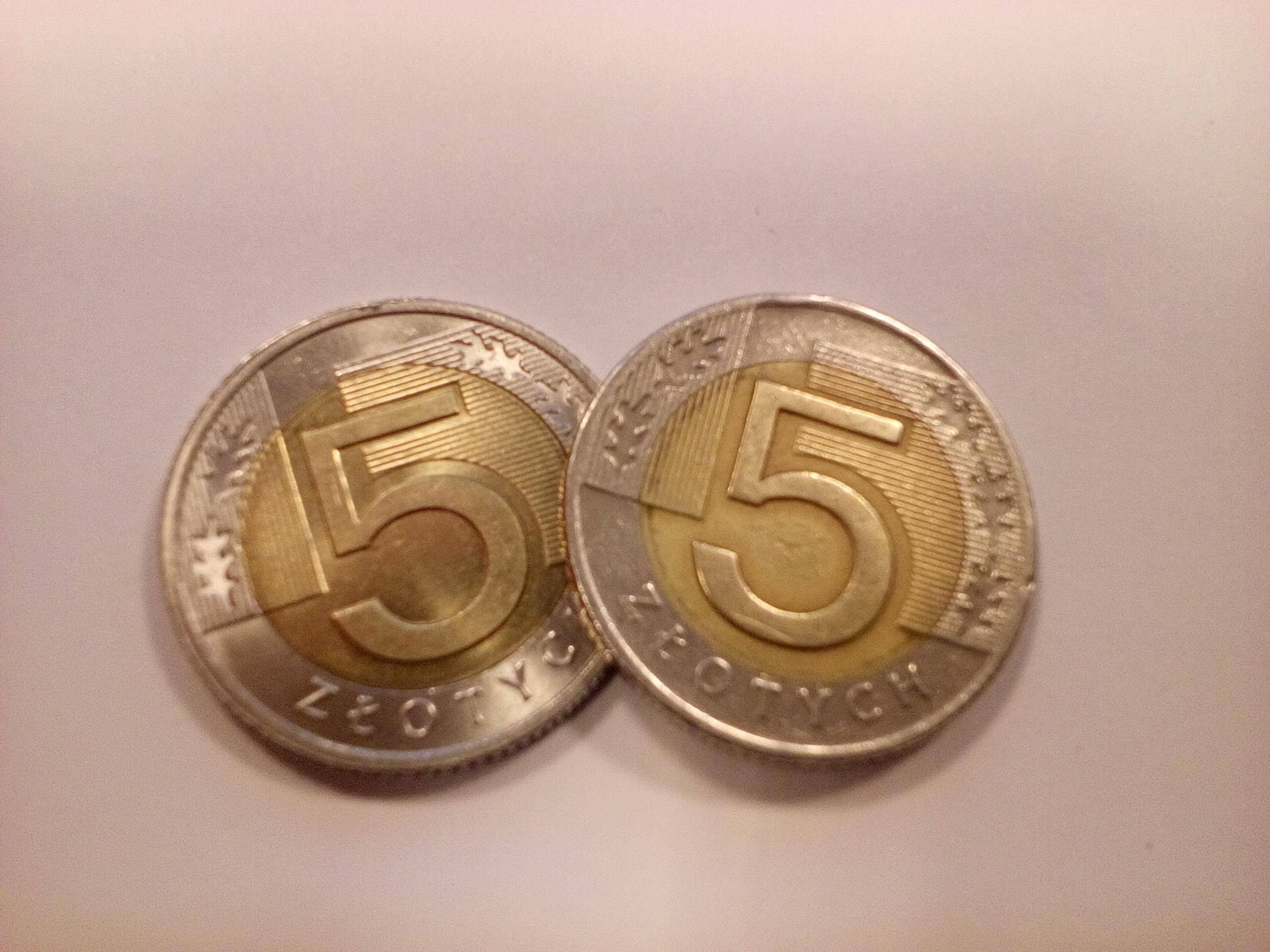monety dwie 5 zł