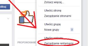 menadżer reklam facebook