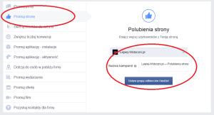 Facebook promowanie strony