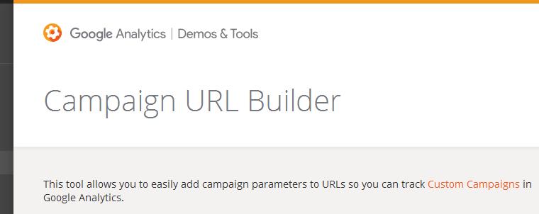 google link builder - narzędzie do tagowania linków