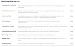 dezkatywacja konta facebook