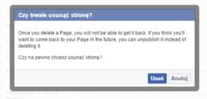 strona fb kasowanie - jak usunąć stronę na facebooku?