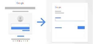 panel logowania Google