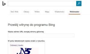 Jak dodać stronę do wyszukiwarki BING? - submit url bing