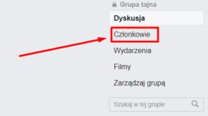 Członkowie grupy na Facebooku