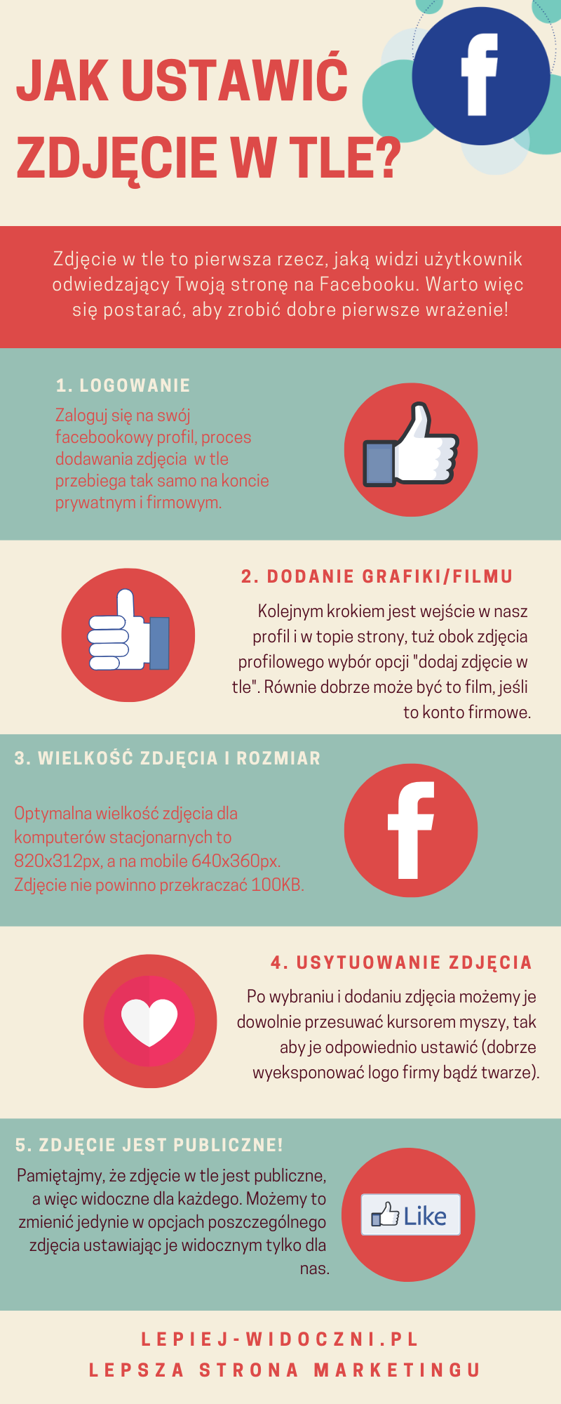 Jak ustawić zdjęcie w tle FB