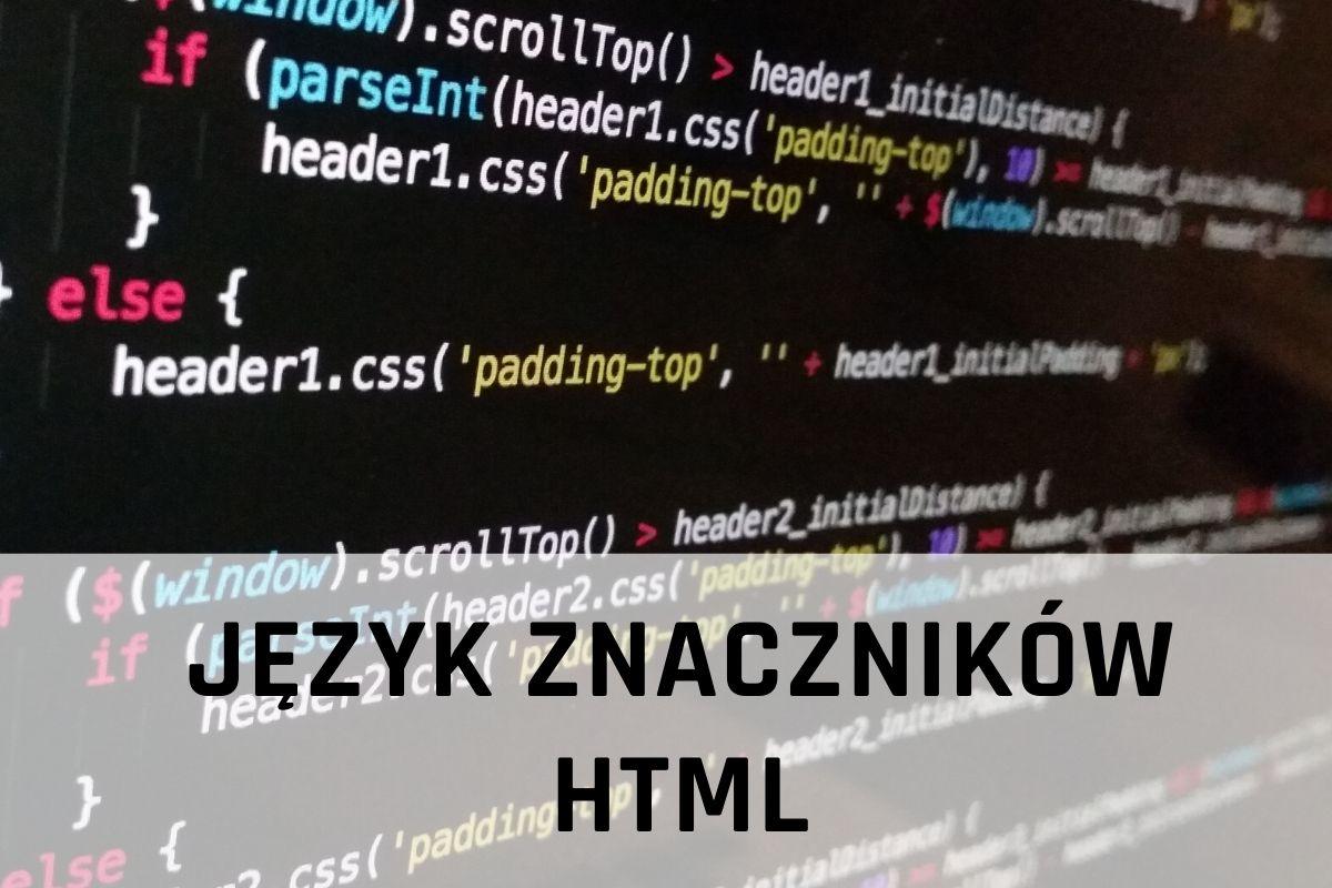 język znaczników html